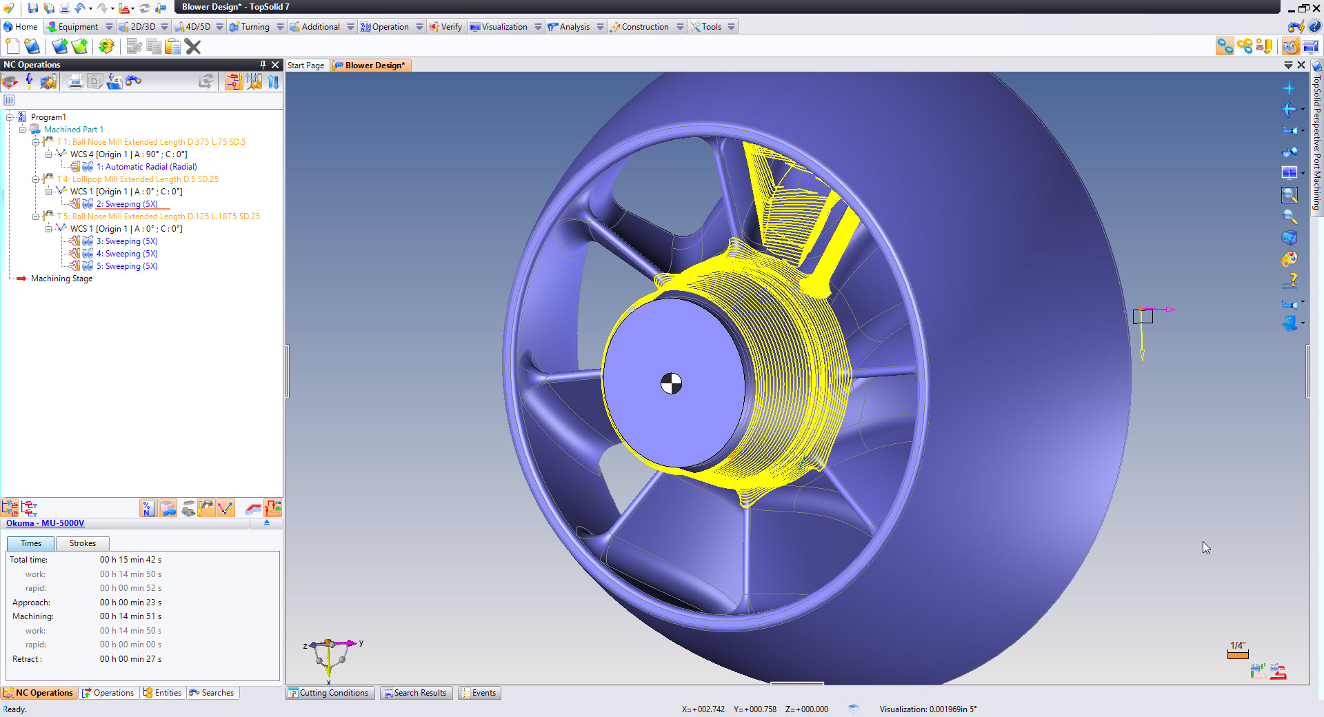 5 Axis Sweeping